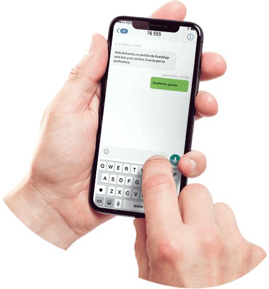 Grouin sms notificiacion