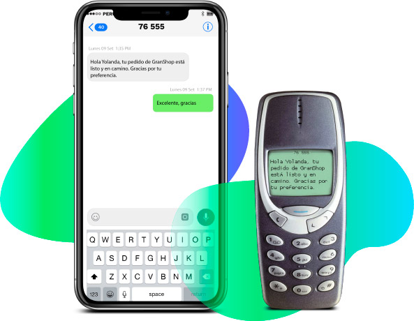 Grouin sms smartphone celular