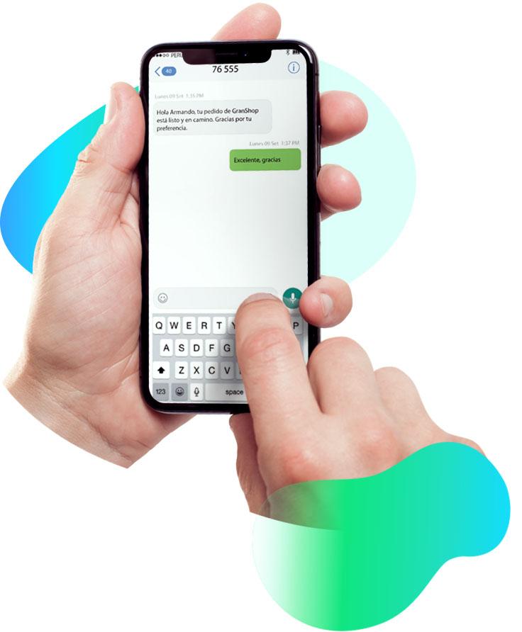 Grouin sms personalizado